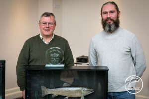 Chairman Joe O'Donnell pictured with Tommy Keogan and his heaviest fish of the year 2017.