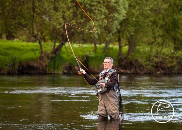 Denis flyfishing on the River Boyne in Trim