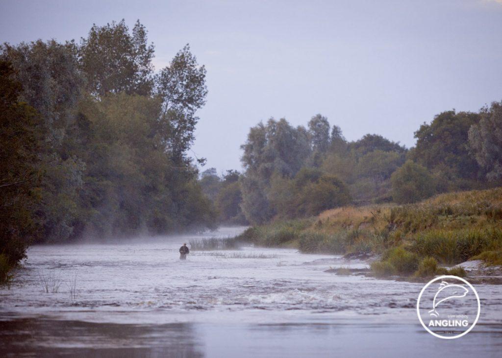 Fishing on the river boyne