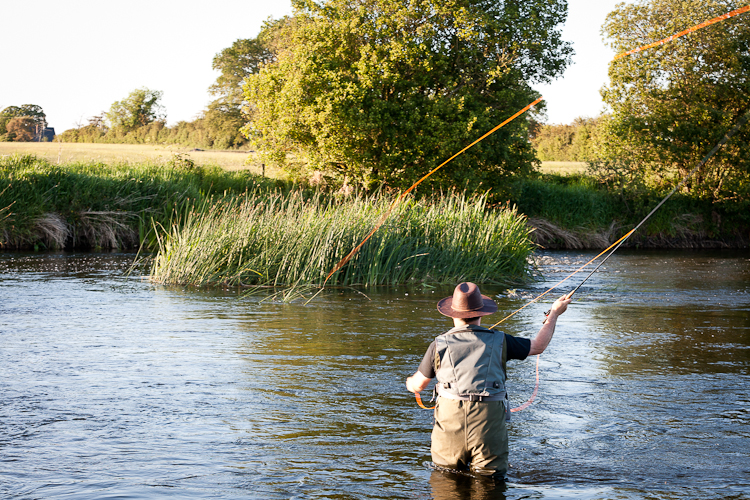 Fly fishing on the river Boyne in Trim